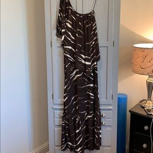 Michael Kors one shoulder zebra dress. Small EUC